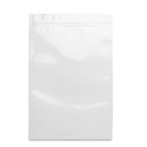 1oz Mylar Bags - White / Clear