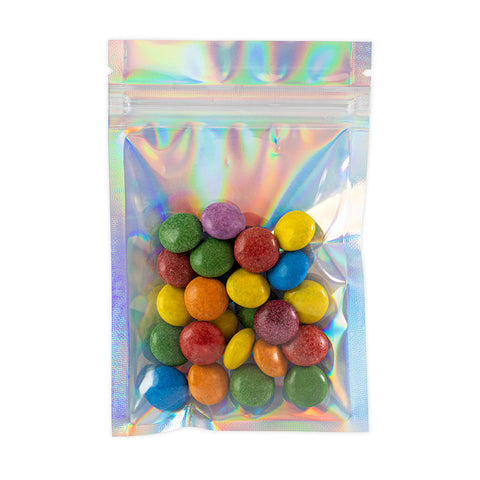 1 Gram Mylar Bags - Holographic / Clear