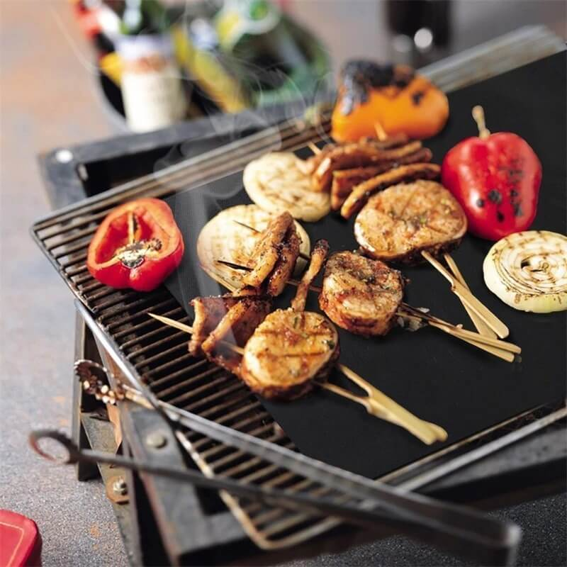 Reusable Non-Stick BBQ Grill Mat(3pcs)Outdoor Cooking