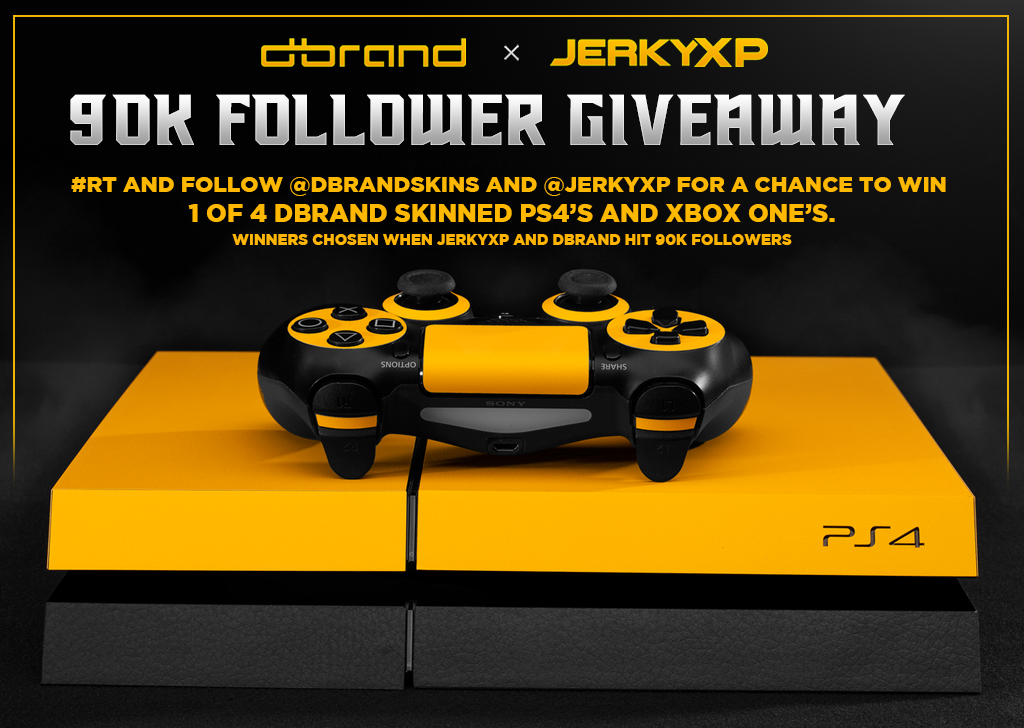 JerkyXP and dbrand partner for huge giveaway!