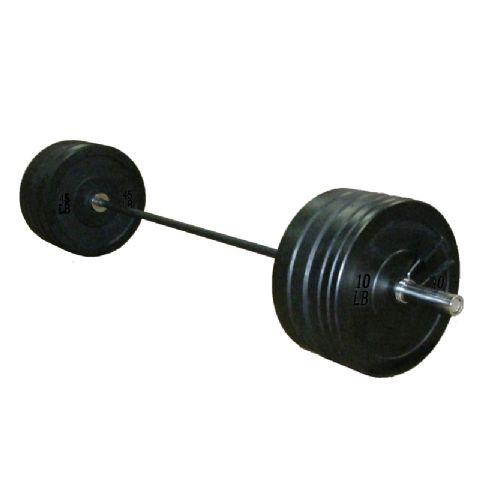 7ft Olympic Barbell and 100kg Black Rubber Bumper Weight Set (Pre Order Now for June 30)