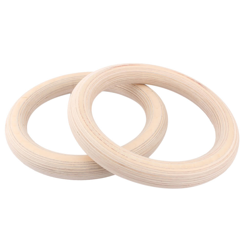 32mm Wooden Gym Rings freeshipping - Fitness Equipment Dublin