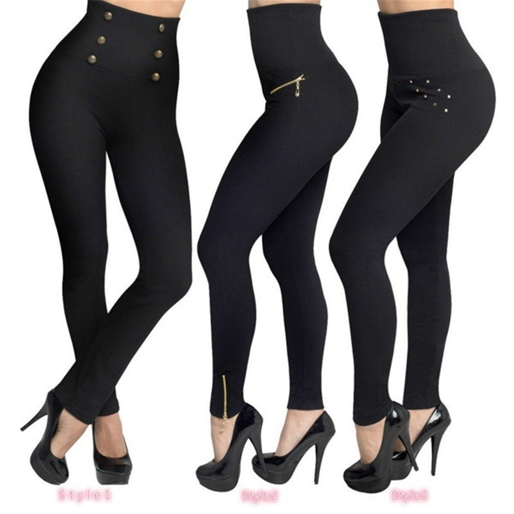 Women Leggings Push Up Hip Fitness Sexy Leggins Elastic High Waist Slim Jogging Pants Female - Emporio Magno