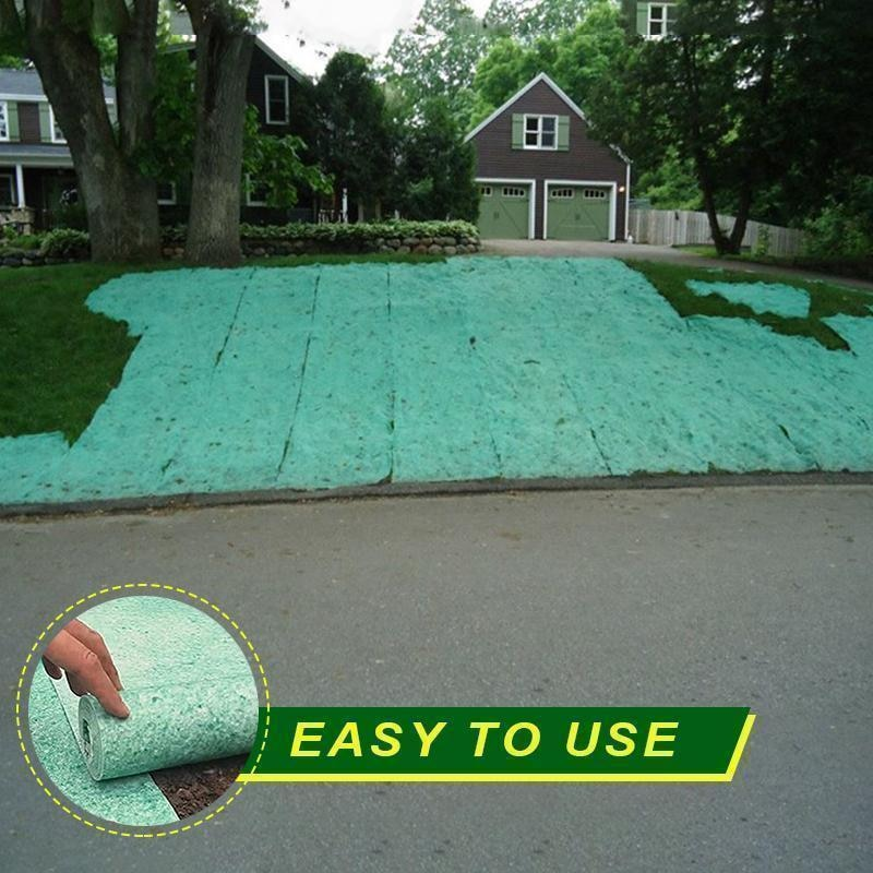 1Pcs Biodegradable Grass Seed Mat Seed Starter Mat 3M × 0.2M Grass Seed Carpet Seed Starter Mat Garden Supplies - Emporio Magno