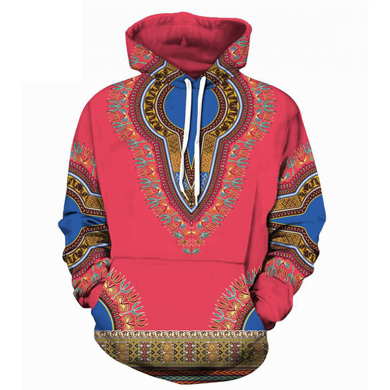 Spring Autumn African Dashiki Print Hoodie Pullover Men Women Casual 3D Hoodies Sweatshirts Men Hip Hop Hoody Tracksuit Moletons - Emporio Magno