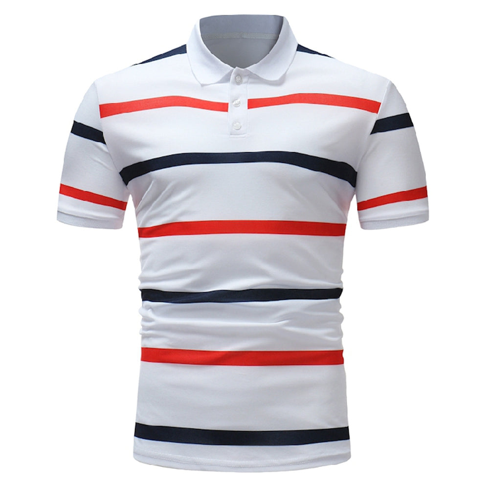 Stripe Men's Casual Fashion Polo Shirt - Emporio Magno
