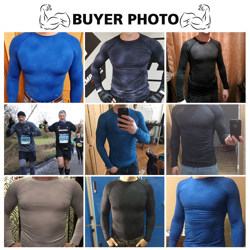Long Sleeve Sport Shirt Men Quick Dry Running T-shirts Gym Clothing Fitness Top Crossfit T Shirt - Emporio Magno