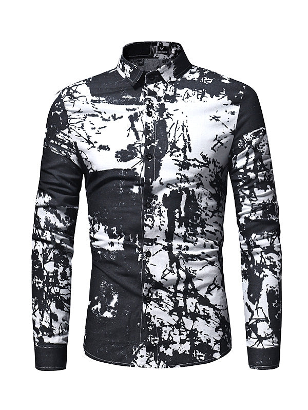 Men Stylish Long Sleeves Shirt with Motifs - Emporio Magno