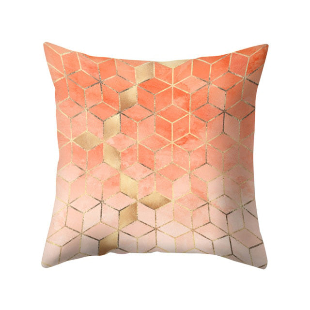 Bright Color Geometry Pattern Throw Pillow Case Cushion Cover Sofa Bed Decor Fashion - Emporio Magno