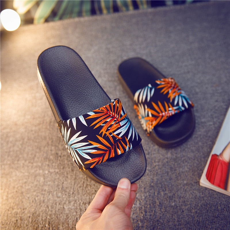 Forest Bamboo Shoes Badslippers Summer Indoor Slippers Zapatos De Mujer Beach Flip Flops Bathroom Home Slippers - Emporio Magno