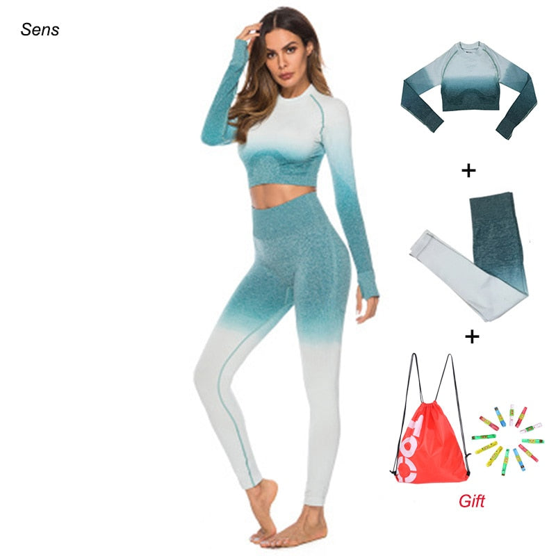 Winter Hot Sale Yoga Set Gym Set Gym Leggings Yoga Sport Leggings Sportswear For Women Sports Clothing Gym Fitness Clothing - Emporio Magno