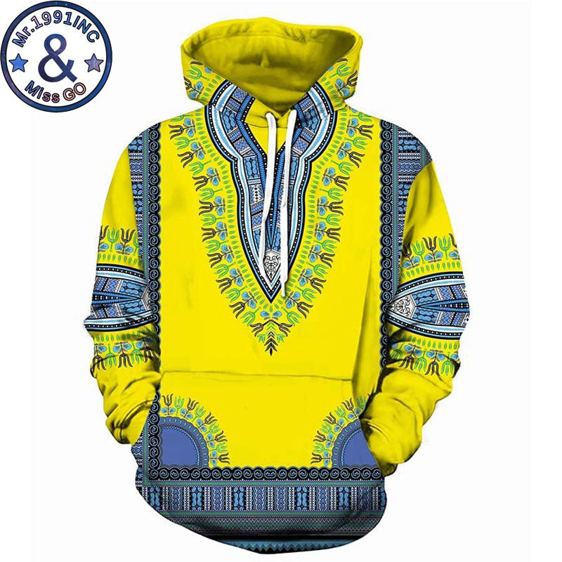 African Clothing Casual Hooded Sweatshirt Men Women Fashion 3D African Dashiki Print Hoodies Sweatshirts Men Hip Hop Tracksuit - Emporio Magno