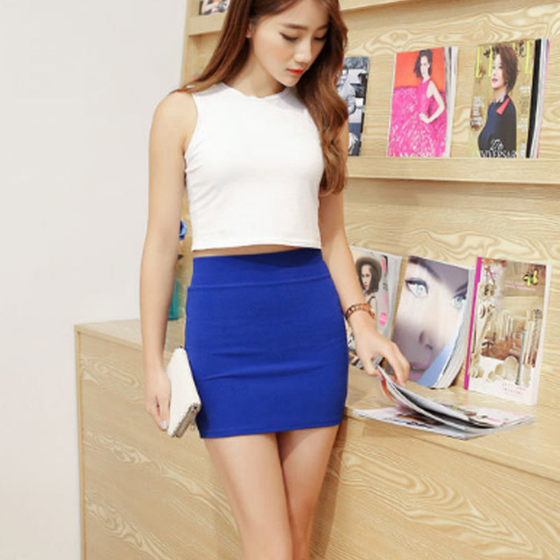 Summer Girls Skirts Casual Package Hip Short Skirts Women Tight Office Party Skirts - Emporio Magno