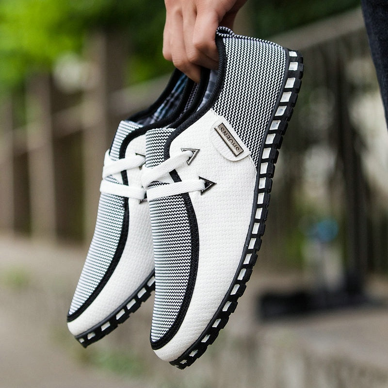 Male driving Shoes Fashion Men Flats Boat Shoes High Quality  Men Casual Shoes Slip On Loafers Casual shoes Big Size MM 58 - Emporio Magno