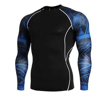 Fitness MMA Boxing Shirt Men Rashguard mma Bjj Jiu jitsu Long Sleeve T Shirt Muay thai Men Skull Print 3D Boxing Jerseys Tops - Emporio Magno