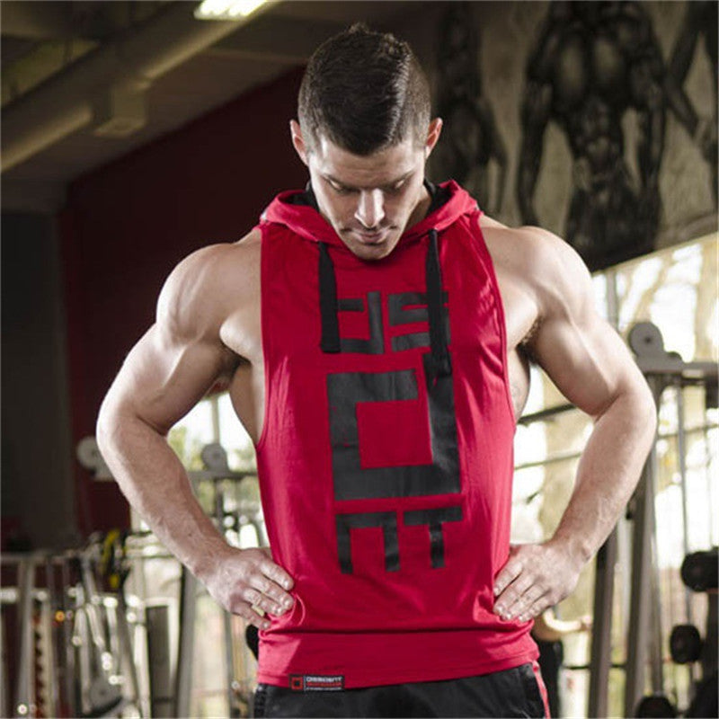 Cotton Tank Tops Hoodie Fitness Mens Bodybuilding Workout Tee fashion Muscle Male Activewear - Emporio Magno