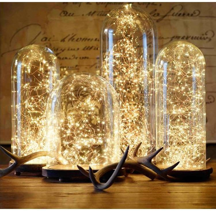 LED Copper Wire String Lights For Wedding Christmas Garland Festival Party Home Decoration lamp Battery Operated - Emporio Magno