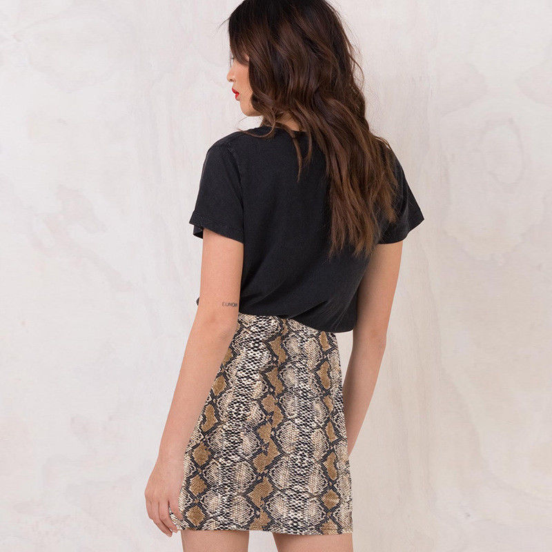 Sexy Snake Print Skirt Women's High Waist Pencil Hip Skirts  Ladies Bodycon Party Skirts - Emporio Magno