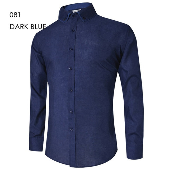 Men's Casual Shirt Slim Fit Men's Casual Button Down Shirt Long Sleeve Formal Dress Shirts Men Male Clothing Camisa - Emporio Magno
