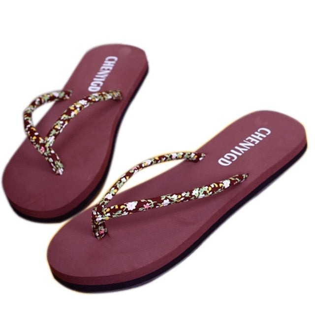 Summer Beach Flip Flops Sandals Women's Slippers Female Flat Sandals Flip Flops - Emporio Magno