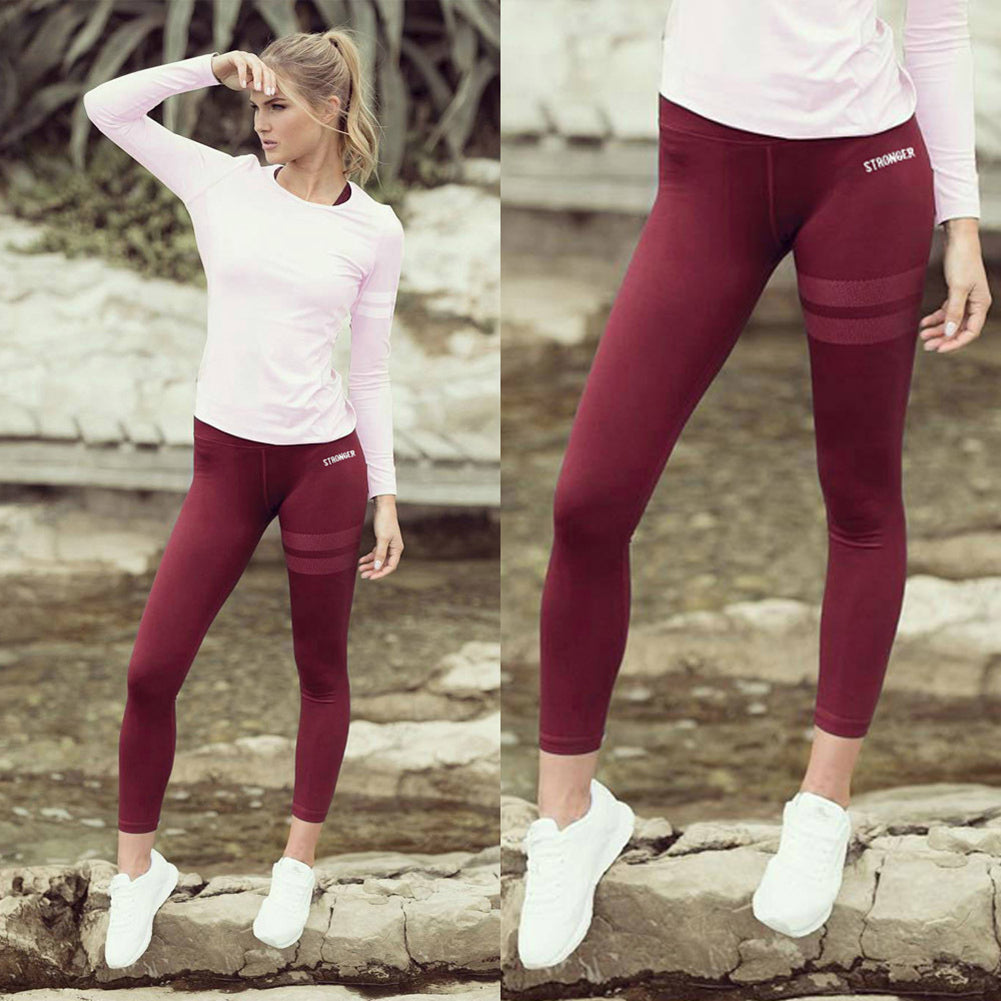 Sports Women Slim Elastic Outdoor Yoga Fitness Sweatpants Long Pants Trousers - Emporio Magno