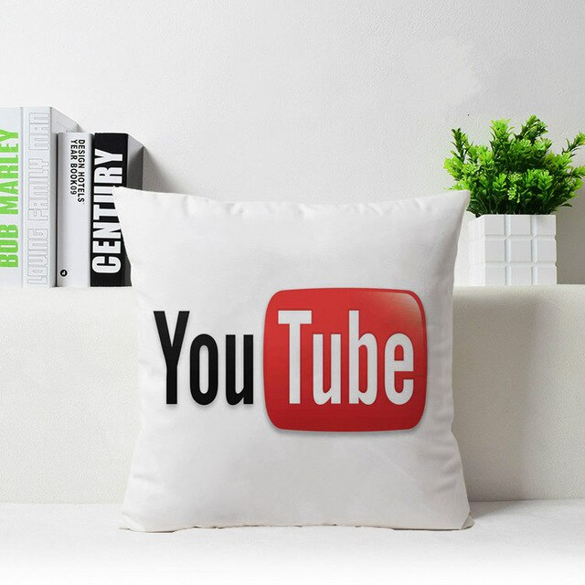 Instagram Youtube Facebook google twitter Pinterest Customized Zippered Square Throw Pillowcase Sham Protector - Emporio Magno