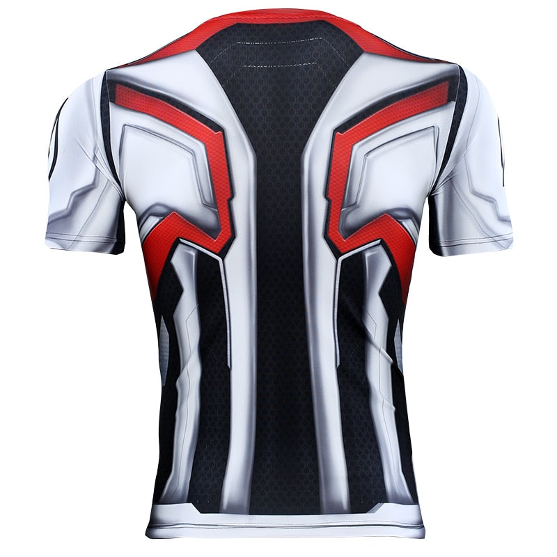 Avengers 4 Endgame Quantum War 3D Printed T shirts Men Compression Shirt Iron man Cosplay Costume Long Sleeve Tops For Male - Emporio Magno