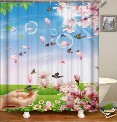 3D HD Digital Printed Shower Curtains Waterproof Moisture-proof Bathroom Curtains - Emporio Magno