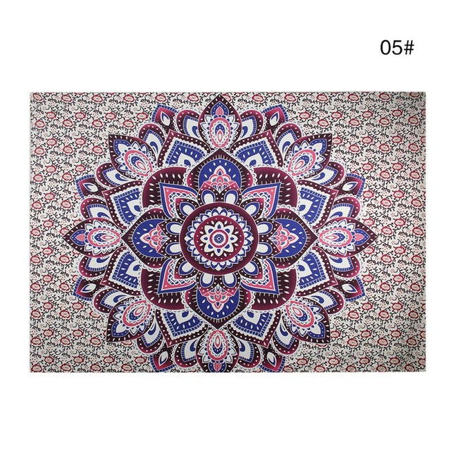 Bohemian Mandala Tapestry Sandy Beach Indian Picnic Rug Throw Travel Mattress Blanket Camping Tent Wall Decor Hanging Tapestries - Emporio Magno