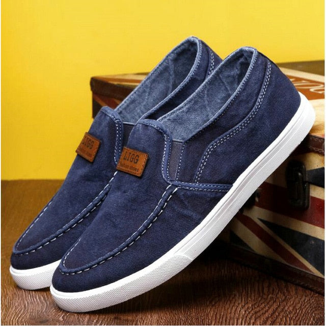 Summer Outdoor Solid Footwear Vulcanize Shoes Comfortable Men's Flats Canvas Shoes Men Denim Cloth Casual Shoes - Emporio Magno