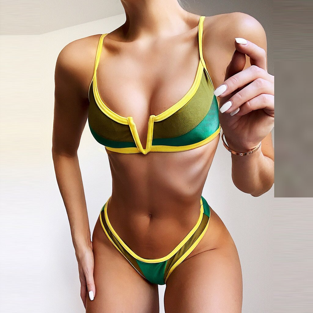 Women Swimsuit Sexy Bikini Set Push Up Swimwear Low Waist Bathing Suits Beach Wear - Emporio Magno
