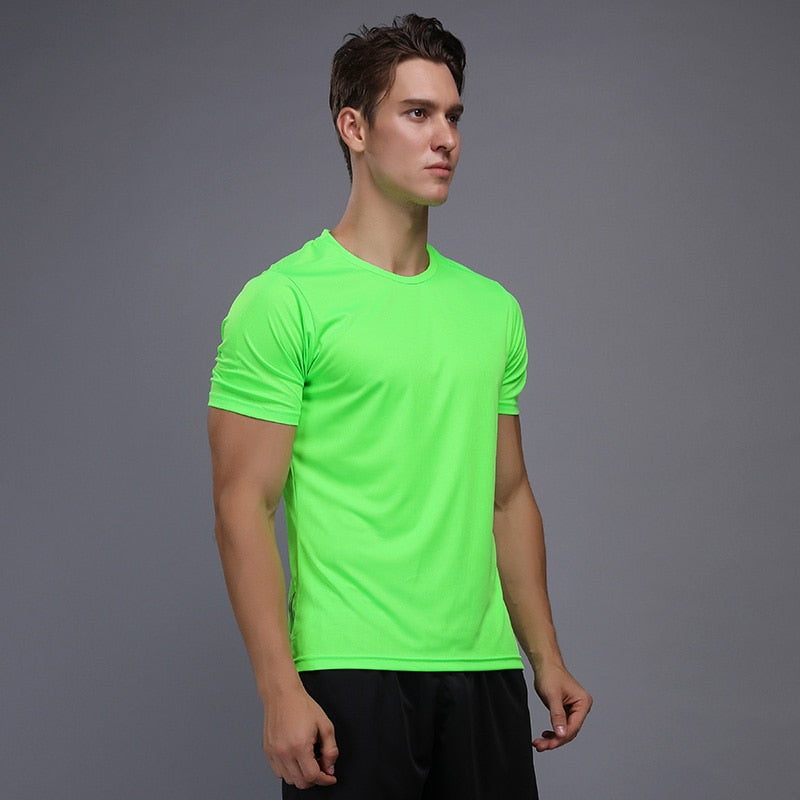 Shirt Homme Running Men Designer Quick Dry T Shirts Running Slim Fit Tops Tees - Emporio Magno