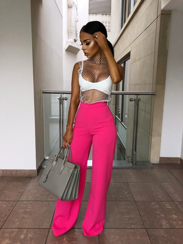 Women loose long high waist wide leg pants for women female lady long pants women's 2019 spring new S M L XL-in Pants - Emporio Magno
