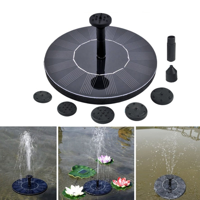 Floating Solar Panel Water Fountain For Garden Solar pump Pond Submersible Watering Pool Automatic Solar Fountains Waterfalls - Emporio Magno