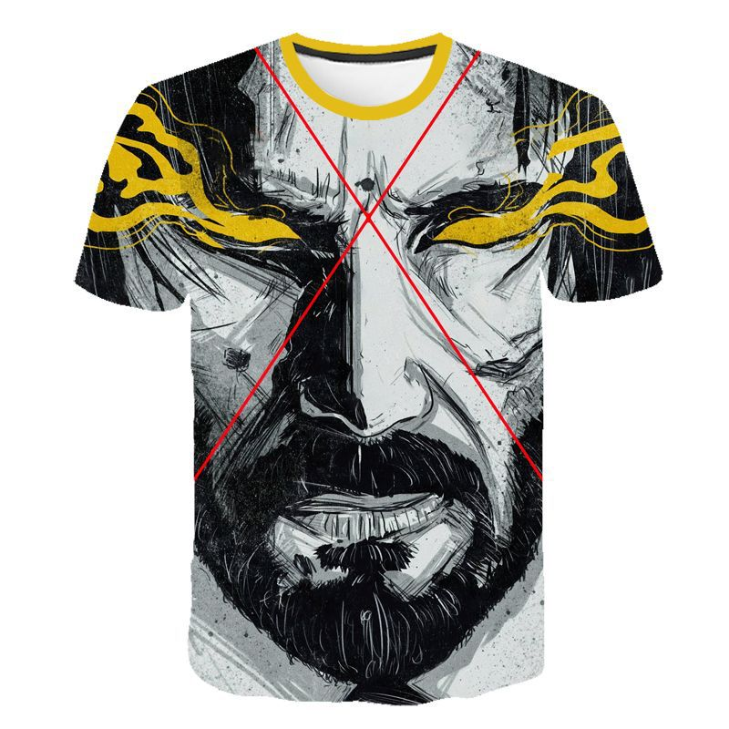 T-Shirt John Wick the Boogie Man Movie 3D Print John Wick: Chapter 3 - Parabellum T Shirt O-neck Short Keanu Reeves Killer - Emporio Magno