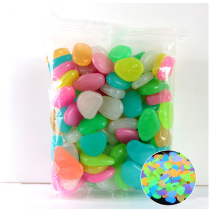 100 Pcs Glow in the Dark Garden Pebbles Glow Stones Rocks - Emporio Magno