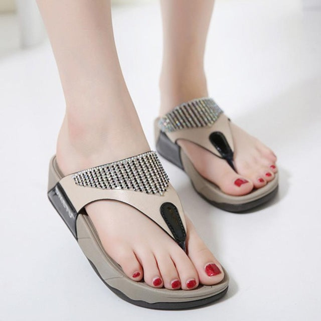 Shoes Flip flops Fashion Summer Sandals Bohemian Wedge Flops Beach Sandals Casual Shoes - Emporio Magno