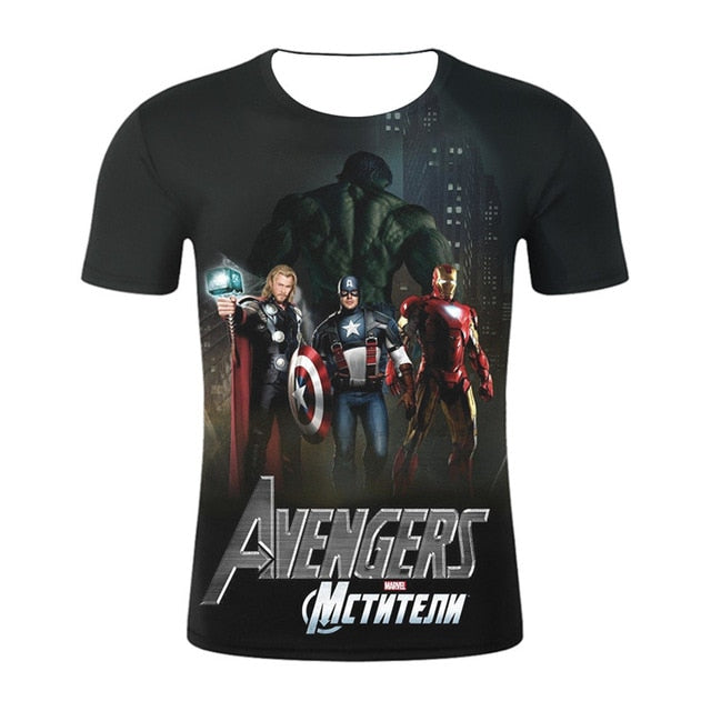 Design t shirt men/women marvel Avengers Endgame 3D print t-shirts  tops - Emporio Magno