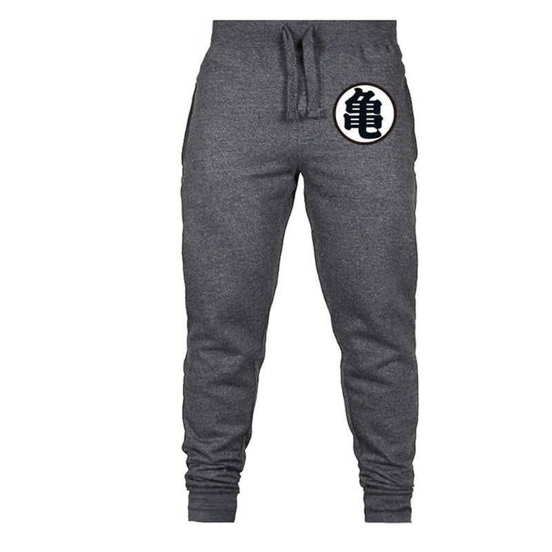 Casual Funny Print Dragon Ball Goku Mens Pants Cotton Autumn Winter Gray Men Joggers Sweatpants - Emporio Magno