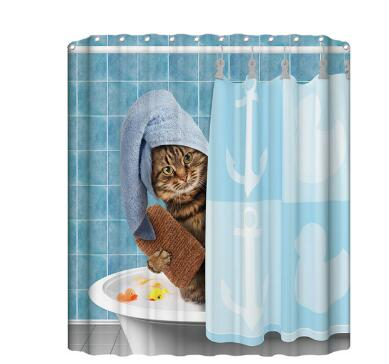 3D Colorful Shower Curtain Bathroom Curtain  Bath Decor Shower Curtains - Emporio Magno
