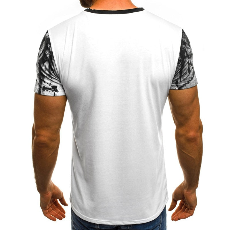 Summer personality printing men's T-shirt, sports printed short-sleeved camouflage T-shirt. - Emporio Magno