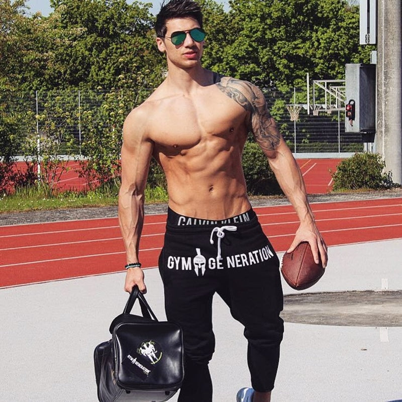 Mens Cotton Sweatpants Gyms Pant Fitness trousers Joggers Workout Pencil Pants - Emporio Magno