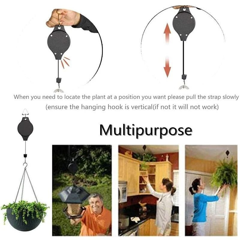5 PCS Easy Reach Plant Pulley Set Hooks Plant Pulley For Garden Supplies Tools Fashion Creative Home and Garden Tools Accessories - Emporio Magno
