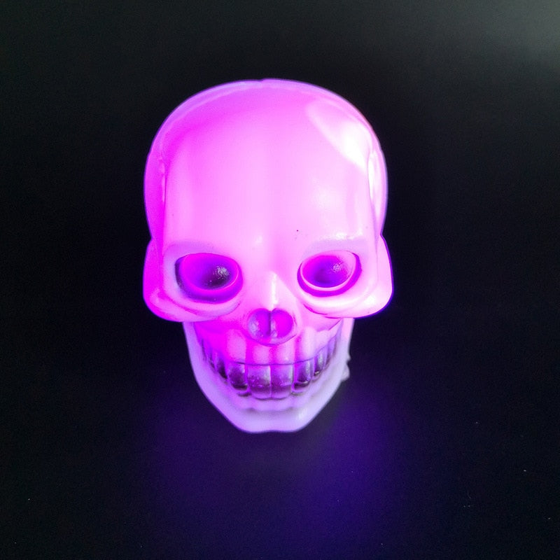 LED Colorful Flash Skull Night Light Lamp Halloween Lights Party Decoration - Emporio Magno