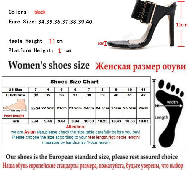 Summer Women Slippers Sexy Thin Heels Sandals Woman High-Heeled Buckle Women Slides Shoes - Emporio Magno