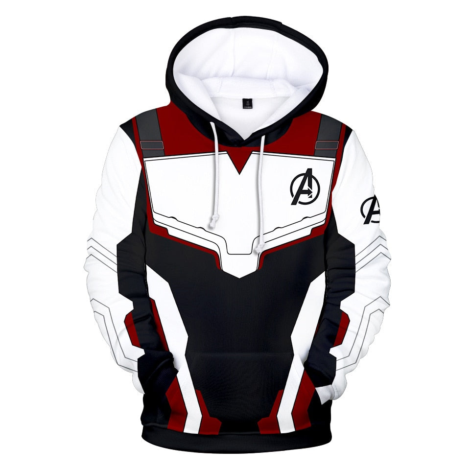 Avengers Endgame Quantum Reich Hoodie Coat Sweatshirts 3D Jacket Pullovers Iron Man Captain America Hoodie Sweater Kids&Adult - Emporio Magno