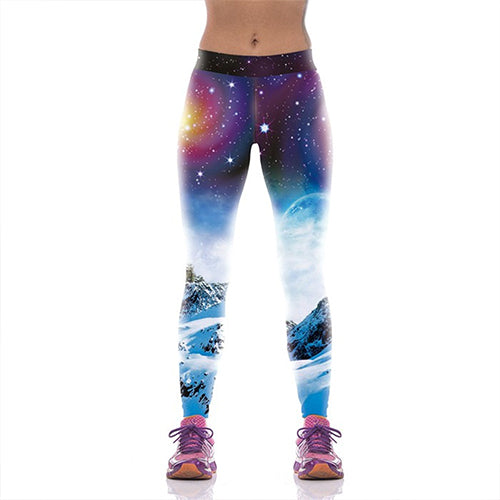 New Arrival Women Leggings Sporting Pants Starry Sky 3D Spot Printed Mujer Compression Leggins Trousers - Emporio Magno