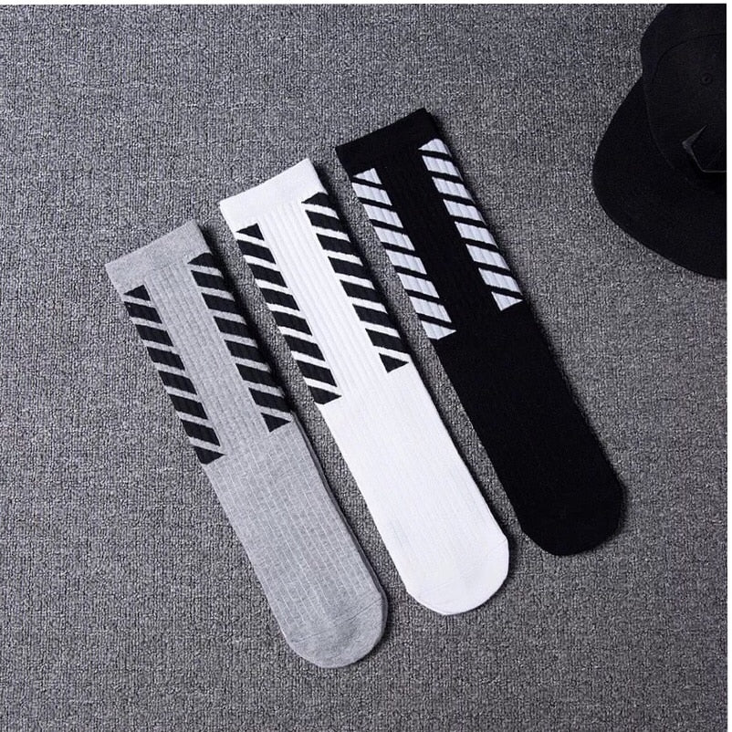 7autumn men's fashion cotton socks striped street skateboard socks for men 3colors Retail - Emporio Magno
