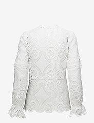 High Collar Lace Blouse