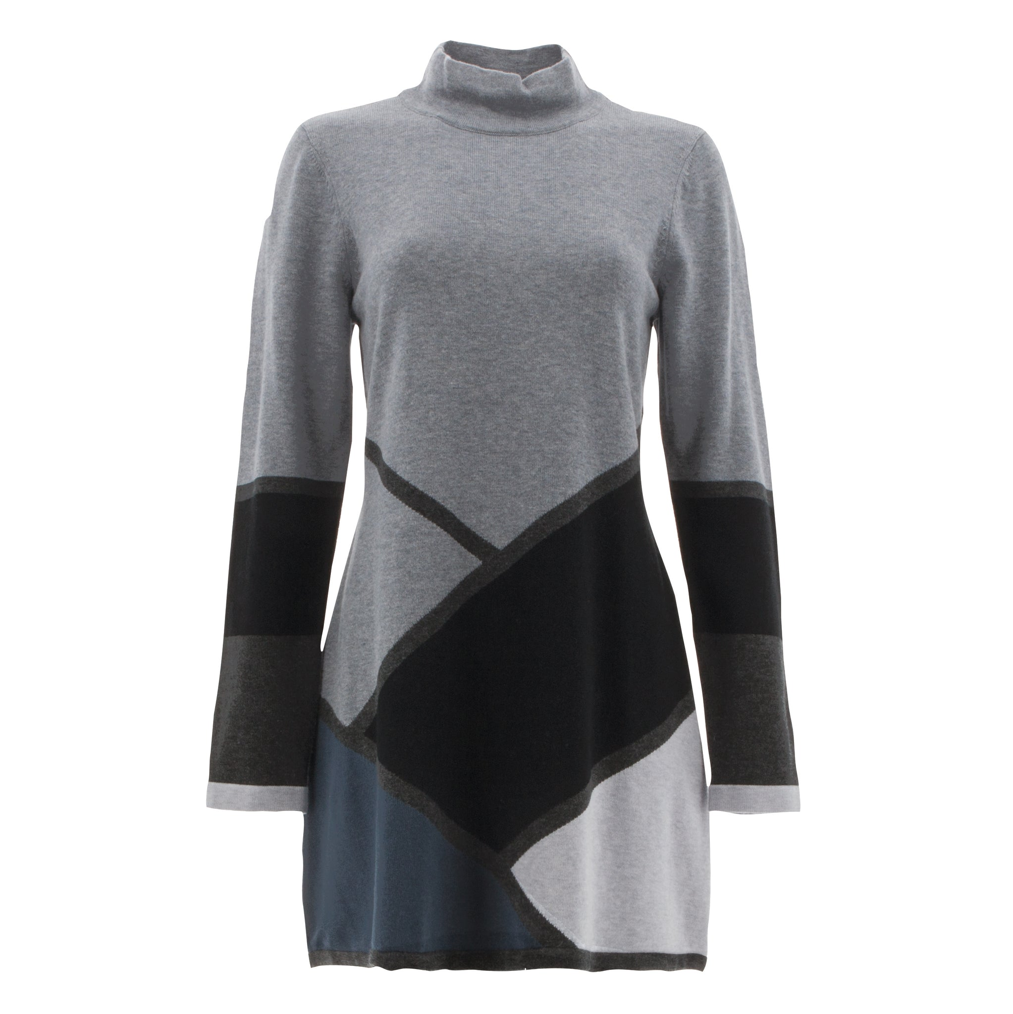 Mock Neck Geometric Tunic